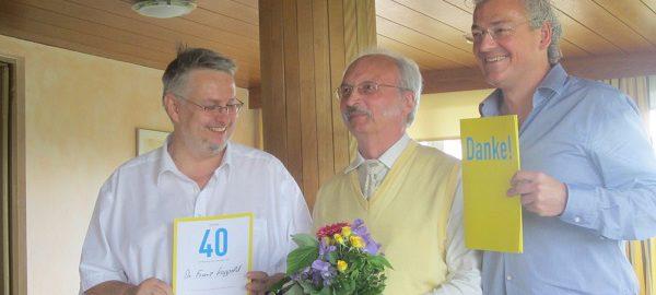 Ehrung für 40 Jahre FDP Mitgliedschaft in Dachau