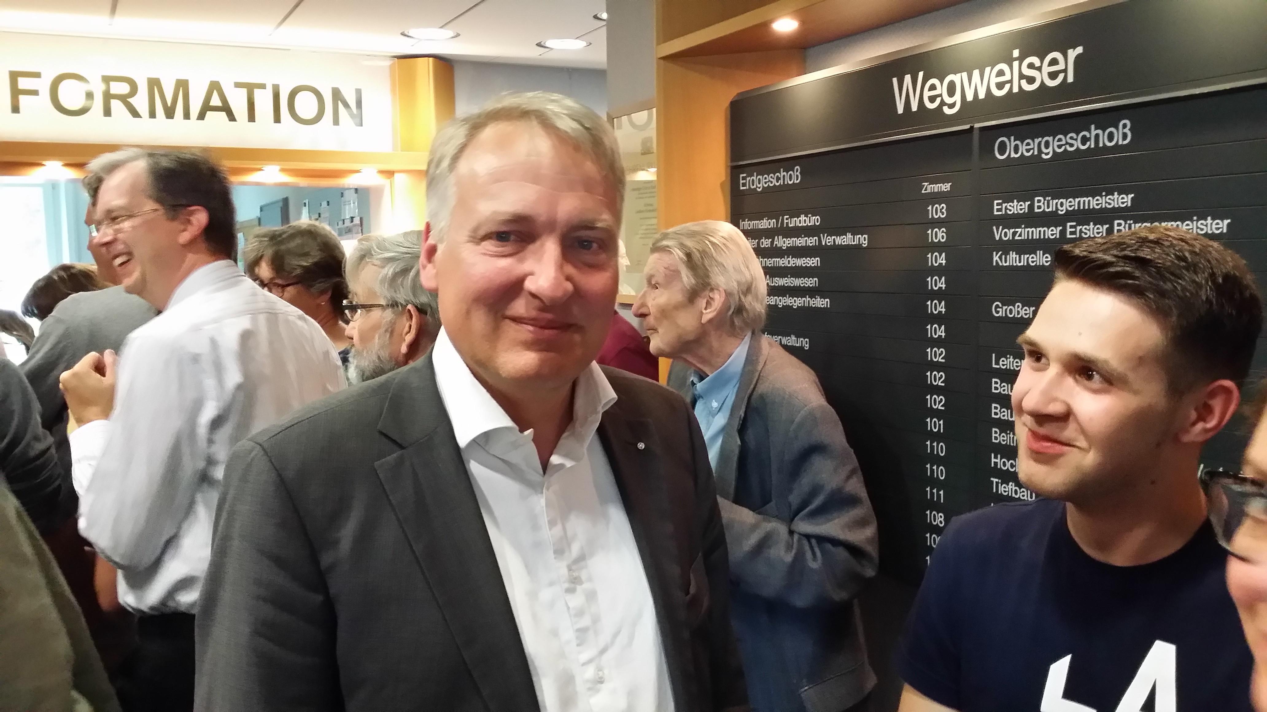 Peter Münster nach seinem Erfolg