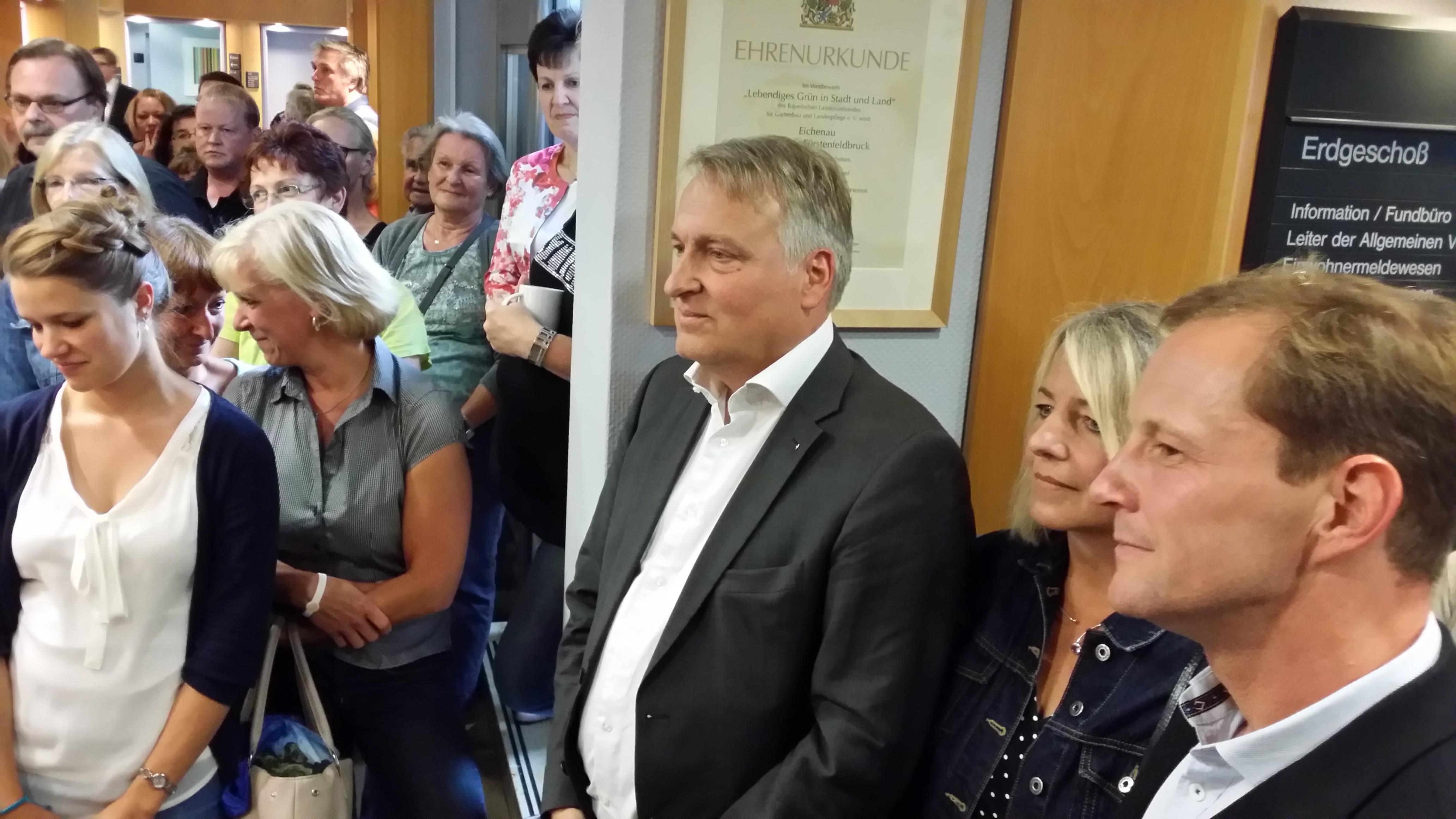 Peter Münster vor der Bekanntgabe des Ergebnisses