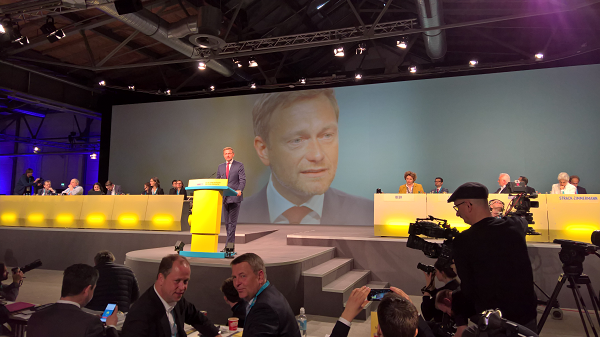 Christian Lindner auf dem Bundesparteitag der FDP 2017