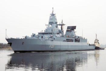 Fregatte Hessen (F 221) der Bundeswehr